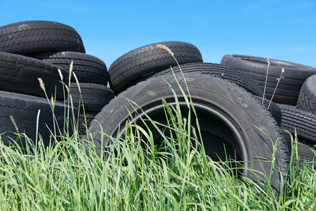unlawful act: Dispose of used tires illegally