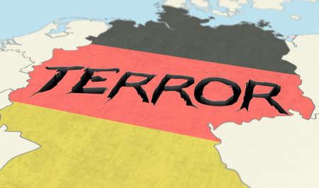 konzept: Terror, Terrorismus, Anschlag, Terroranschlag, Deutschland, BRD, Schutz, Sicherheit, �berwachen, IS, Angst, Gefahr, �berwachungskamera, Weihnachtsmarkt, Berlin, Situation, Terrorangst, Wort, Europa, Hintergrund, verhindern, Islamismus, bek�mpfen, Buchstab