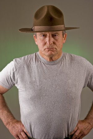 Older man posed as drill instructor. Stock Photo - 4556809