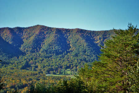 View of the mountains landscape background great smoky mountain national park Tennessee