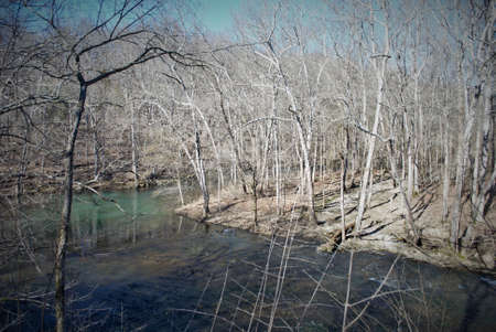 Little Miami river in the spring near yellow springs ohio Imagens