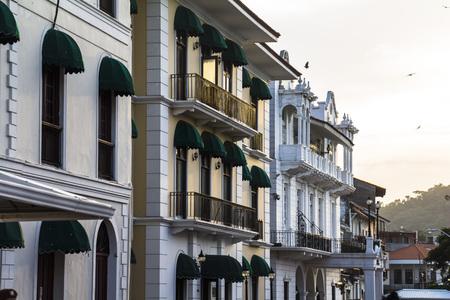 viejo: Old renovated buildings in Casco Viejo, Panama City
