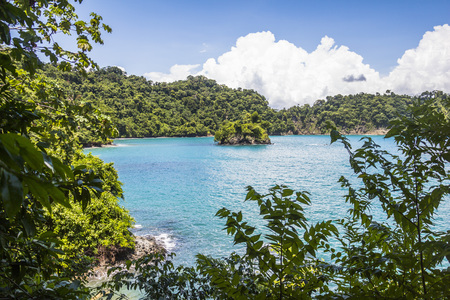 View on the sea in Manuel Antonio Parc, Costa Rica Stock Photo