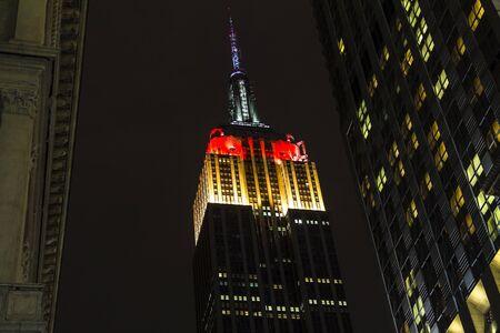 german flag: Empire State Building in German Flag Color after soccer game