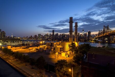 long island: Long Island industry meets Manhattan, view from Long Island