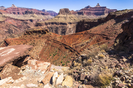 south kaibab trail: Grand Canyon Landscape Overview on South Kaibab Trail