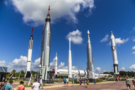 Rocket Garden in Kennedy Space Center in Florida