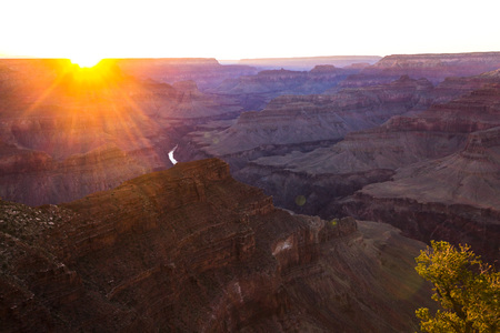 eagle canyon: Fantastic colorful sunset at Grand Canyon from above