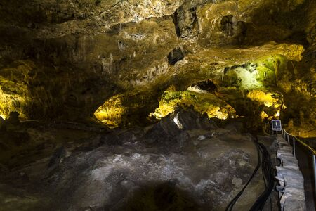 carlsbad: Inside Carlsbad Caverns Cave System in New Mexico, USA