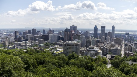 montreal city: Montreal City, Canada, Overview from Mont Royal