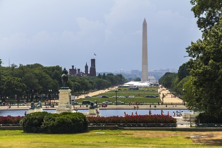 obelisk stone: The Memorial Monument in Washington, DC at daytime