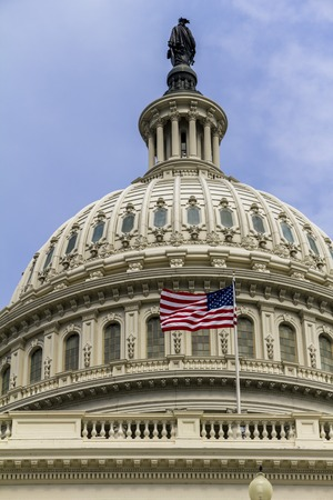 governing: The Capitol of the US in Washington, view at daytime