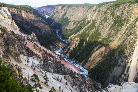 lower yellowstone falls: Grand Canyon of Yellowstone view, Yellowstone National Park