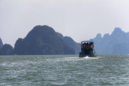 panyi: Big rocks in the water at Phang-Nga, Thailand Stock Photo