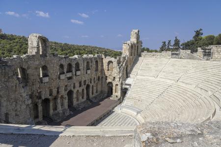amphitheatre: Ancient amphitheatre around the acropolis in Athens Stock Photo