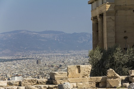 acropolis: View over Athens from acropolis hill, Greece