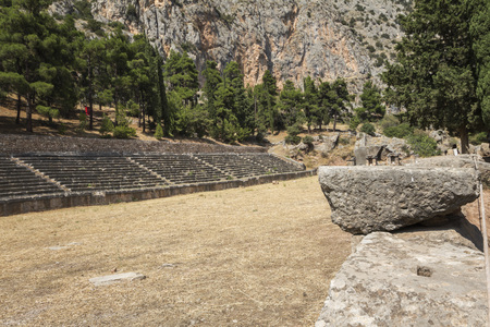 athenians: Ancient Race track at Delphi in Greece