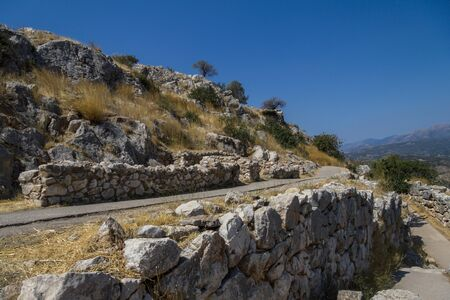 nafplio: Overview of the archeological site Mycenae in Greece