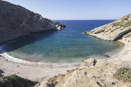 naxos: Wonderful Lonely bay on the island of Naxos, Greece Stock Photo