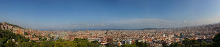xxl: XXL Panorama of Barcelona at daytime, Spain