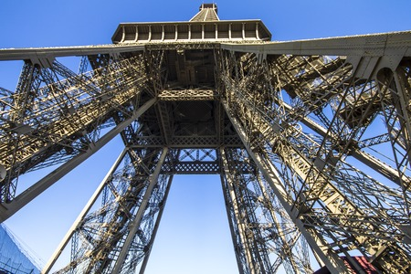 eiffel tower architecture: The Eiffel Tower architecture from below, Paris