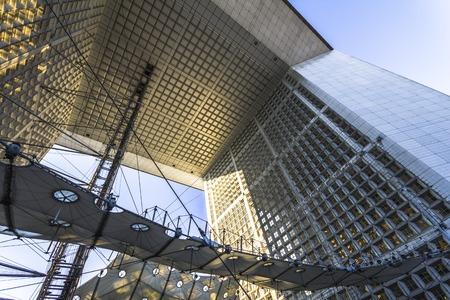 defence: La Grande Arch architecture in Paris, France Stock Photo