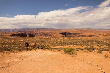 lower antelope: Inside Navajo desert in Arizona in the USA Stock Photo