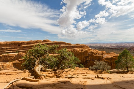 north window arch: Landscape of Arches National Park in Utah, USA