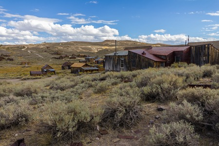 ghost town: Ghosttown Bodie at daytime, in California, USA Stock Photo