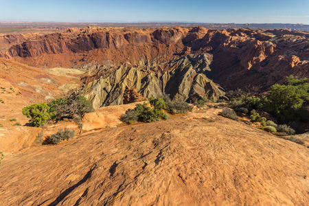 mesas: Upheaval dome crater in Canyonlands National Park in USA