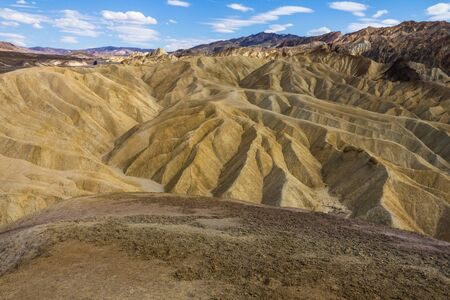 extreme heat: Zabriskie Point at extreme heat, Death Valley, California, USA Stock Photo