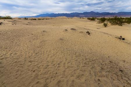 death valley: Sandy desert in Death Valley, California, USA Stock Photo