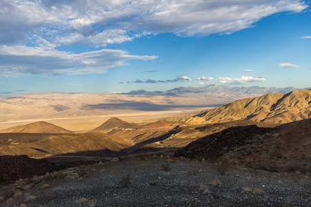 golf of california: View on Death Valley from surrounding mountains, USA Stock Photo