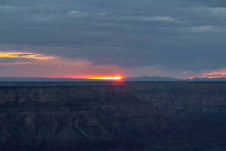 toroweap: Sunset at the Grand Canyon in Arizona in USA