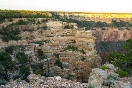 south kaibab trail: View on South Kaibab Trailhead at Grand Canyon, Arizona, USA Stock Photo