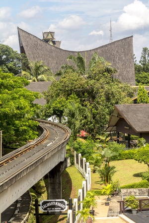 taman: Inside taman mini park in Jakarta, Indonesia