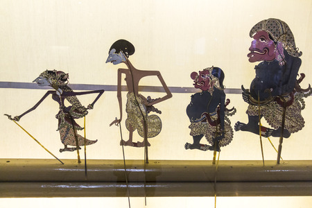 puppet show: Puppets for indonesian puppet show in museum