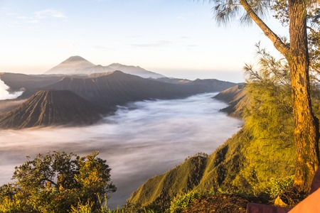 viewpoint: Mount Bromo viewpoint at sunrise, Java, Indonesia