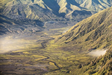 mystic place: Valley at Mount Bromo in the morning, Java