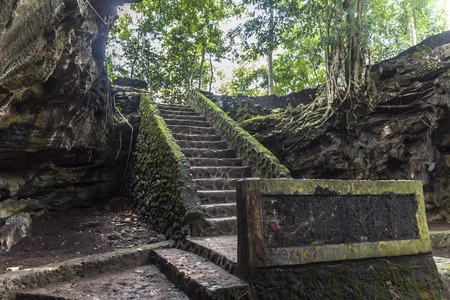 toraja: Ancient cave entrance on Java in Indonesia