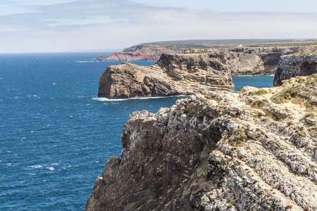 Most western point in Europe, coast of Sagres in Portugal