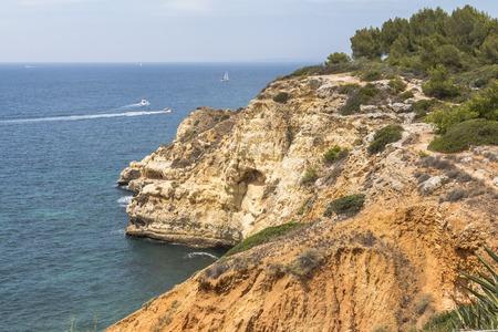 Rocky coast in the Algarve region in Potugal