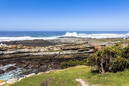 Hiking trail on coast of Tsitsikamma National Park, South Africa Foto de archivo