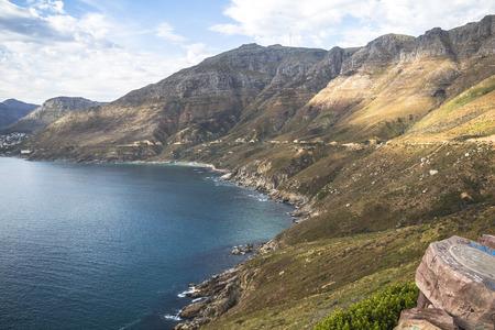 chapmans: Wonderful landscape view on coast at Chapmans Peak Drive, Cape Town