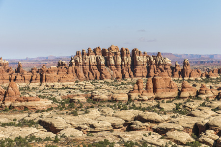 Needles rock formations in Canyonlands National Park, Utah Stock Photo