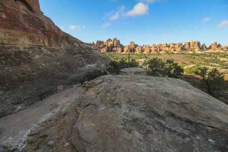 Needles rock formations in Canyonlands National Park