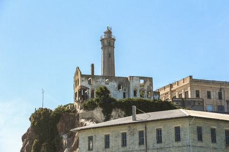 View on Alcatraz watchtower, San Francisco Stock Photo