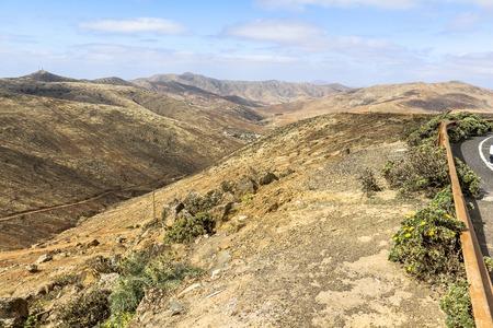 View on wide landscape of Fuerteventura, Canarian islands 写真素材