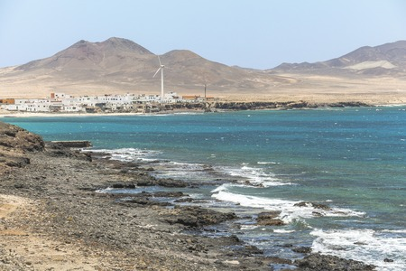 View on Puerta de la Cruz in southwest of Fuerteventura Stockfoto