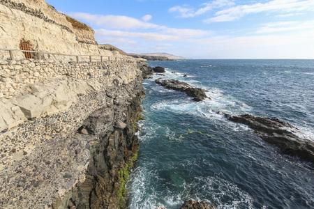 Fascinating limestones on the shore of Ajuy, Fuerteventura